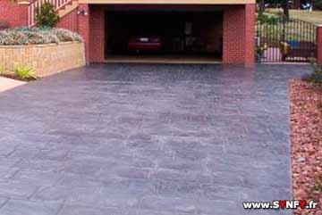 descente de garage en beton matric - Comment Faire Une Descente De Garage En Beton